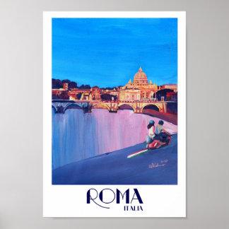 Roma Italia Retro Poster