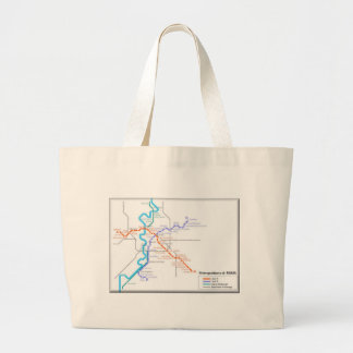 Roma Metro Map Canvas Bags
