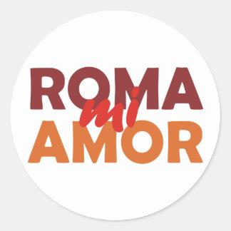 Roma mi amor Rome my love rome my love Classic Round Sticker