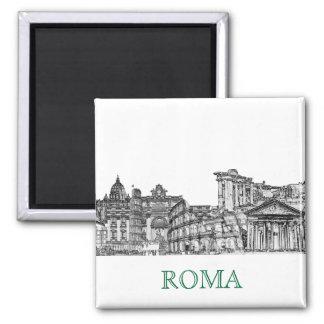 Roma, Rome... travel souvenir gifts Square Magnet