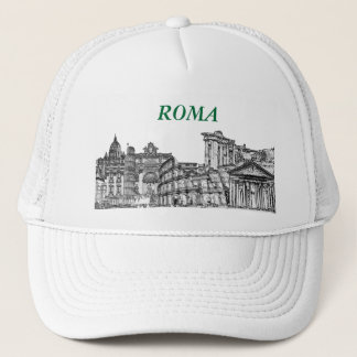 Roma, Rome... travel souvenir gifts Trucker Hat
