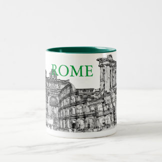 Roma, Rome... travel souvenir gifts Two-Tone Mug