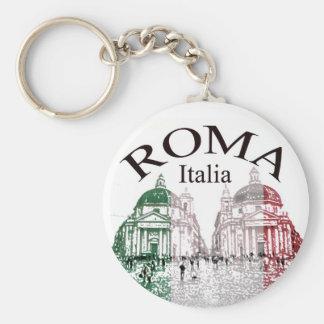 Roma Stamped Basic Round Button Key Ring