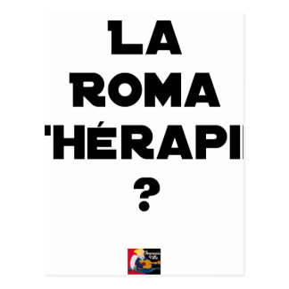 Roma Therapy - Word games - François City Postcard