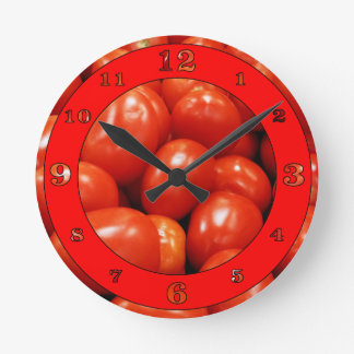 Roma Tomatoes Round Clock