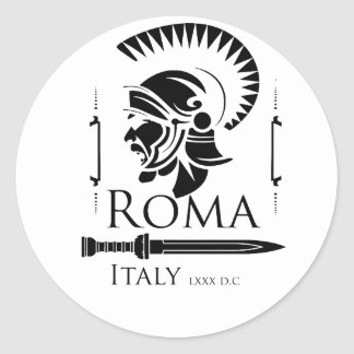 Roman Army - Legionary with Gladio Classic Round Sticker