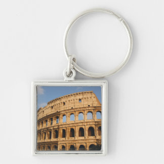 Roman Art. The Colosseum or Flavian 3 Silver-Colored Square Key Ring