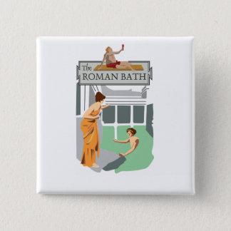 Roman Bath 15 Cm Square Badge