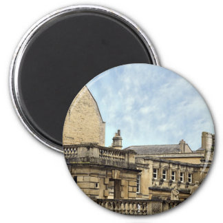 roman baths bath 6 cm round magnet