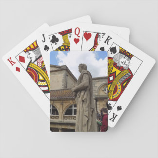 Roman Baths Bath Abbey England Travel Playing Card