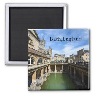 Roman Baths in Bath England Square Magnet