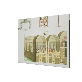Roman Baths, plate from 'The History of the Nation Gallery Wrapped Canvas