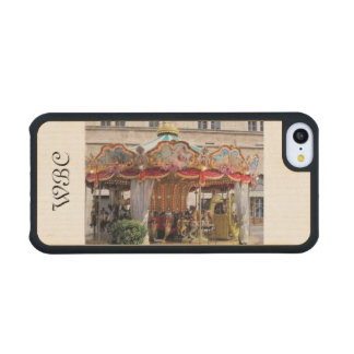 Roman Carousel Lovely in Pastels with Gold Trim Maple iPhone 5C Slim Case