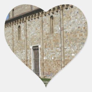 Roman Catholic basilica church of San Pietro Heart Sticker