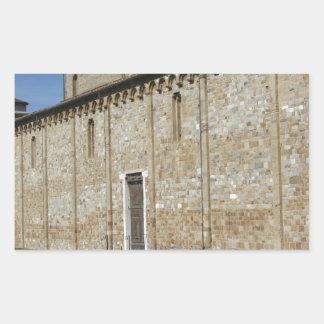 Roman Catholic basilica church of San Pietro Rectangular Sticker