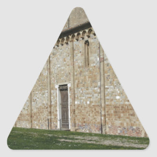 Roman Catholic basilica church of San Pietro Triangle Sticker