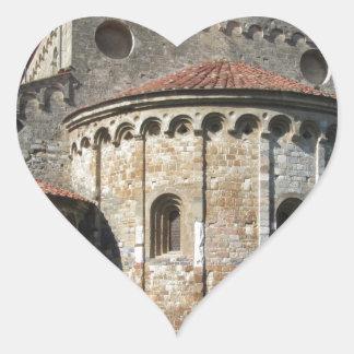 Roman Catholic basilica church San Pietro Apostolo Heart Sticker