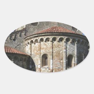 Roman Catholic basilica church San Pietro Apostolo Oval Sticker