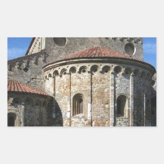 Roman Catholic basilica church San Pietro Apostolo Rectangular Sticker