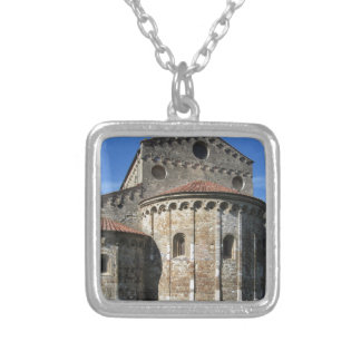 Roman Catholic basilica church San Pietro Apostolo Silver Plated Necklace