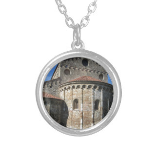 Roman Catholic basilica church San Pietro Apostolo Silver Plated Necklace