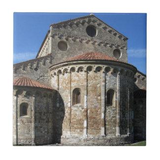 Roman Catholic basilica church San Pietro Apostolo Small Square Tile