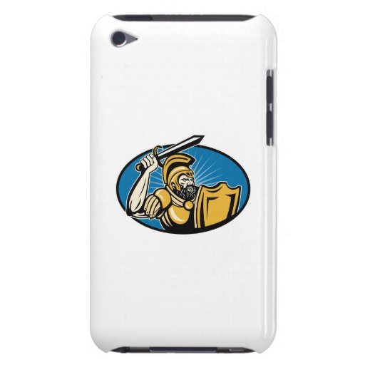 Roman Centurion Soldier With Sword And Shield iPod Touch Case-Mate Case
