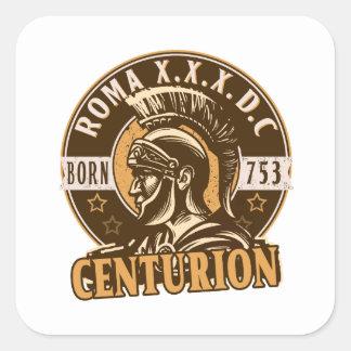 Roman Centurion Square Sticker
