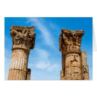 Roman City Ruins Card