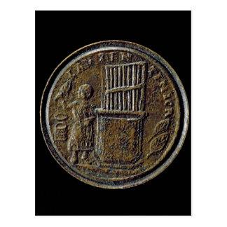 Roman coin depicting an Organ Postcard