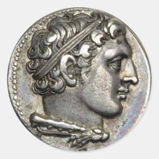 Roman Coin Round Sticker
