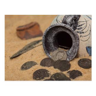 Roman coins postcard