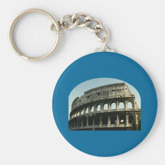 Roman Coliseum Basic Round Button Key Ring