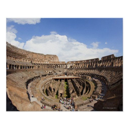 Roman Coliseum, fish eye view Poster