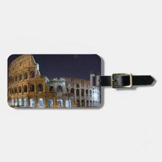 Roman Colosseum at Night Travel Bag Tag