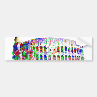 Roman Colosseum colorful architectural products Bumper Sticker