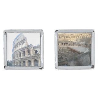 Roman Colosseum - Roman Holiday Cufflinks Silver Finish Cuff Links