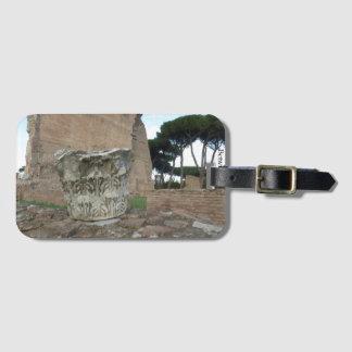 Roman Column Ruins Luggage Tag
