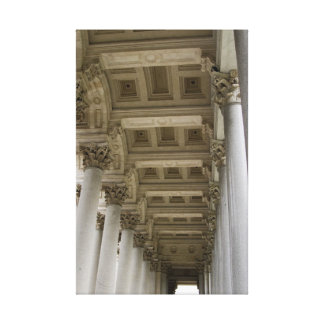 Roman Columns, Italy Stretched Canvas Prints