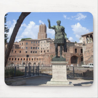 Roman emperor bronze statue at forum mouse pad