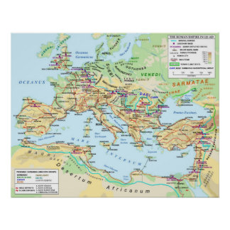 Roman Empire Map Poster