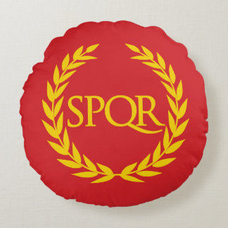 Roman Empire SPQR Round Cushion