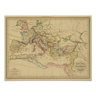 Roman Empire under Constantine and Trajan Poster