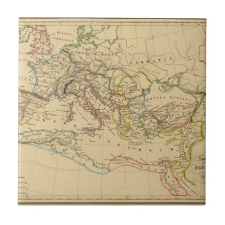 Roman Empire under Constantine and Trajan Small Square Tile