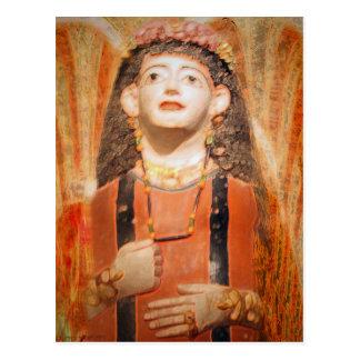 Roman Era Mummy Mask Postcard