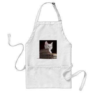 Roman felines standard apron