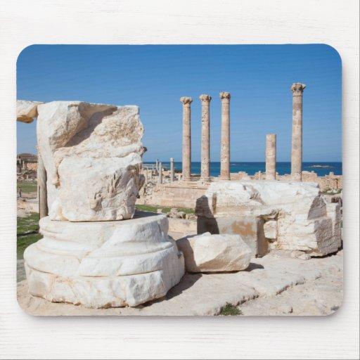 Roman Forum And Remains Of Statue, Sabratha, AZ Mouse Pads