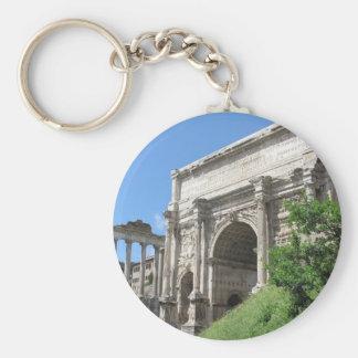 Roman Forum Arch Of Titus - Rome, Italy Basic Round Button Key Ring