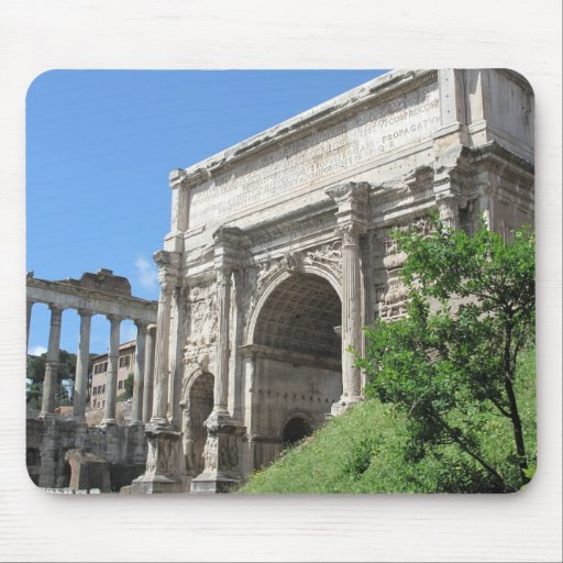Roman Forum Arch Of Titus - Rome, Italy Mouse Mats