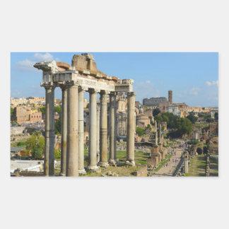 Roman Forum in Rome Rectangular Sticker